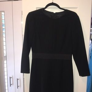 J. Crew 3/4 sleeve black dress